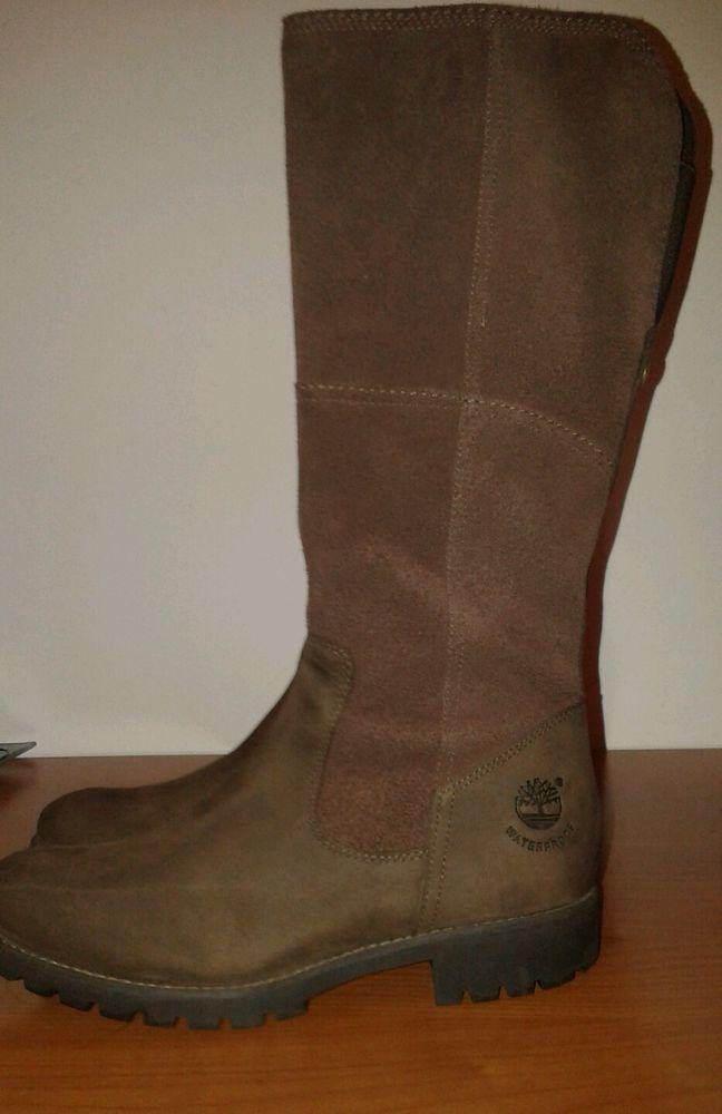 TIMBERLAND Stivali Donna vera Pelle Colore marrone Tg 38
