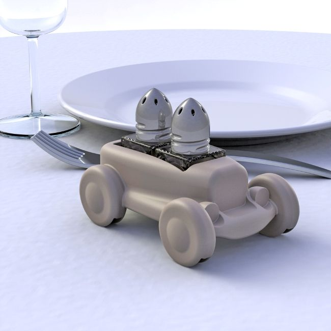 salt & pepper table car