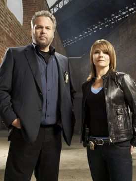 Law and Order: Criminal Intent - Vincent D'Onofrio and Kathryn Erbe. I am sure I have seen every episode more than 5 times each.