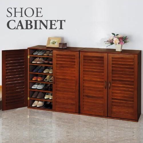 21 Pair Wooden Shoe Cabinet with Adjustable Shelves | Buy Shoe Cabinets