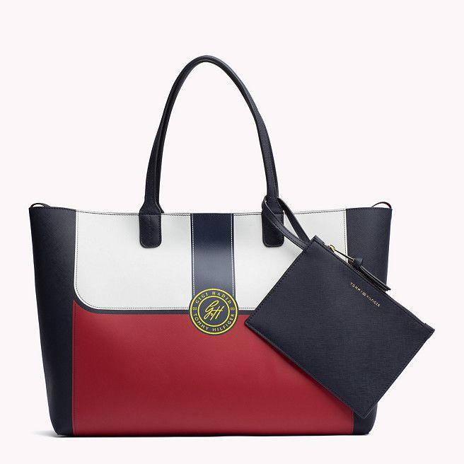 Tommy Hilfiger Saffiano Tote Bag Gigi Hadid - corporate colourblock (Blue) - Tommy Hilfiger Tote Bags - main image