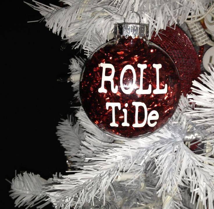 "Alabama Crimson Tide ""Roll Tide"" Christmas Ornament."