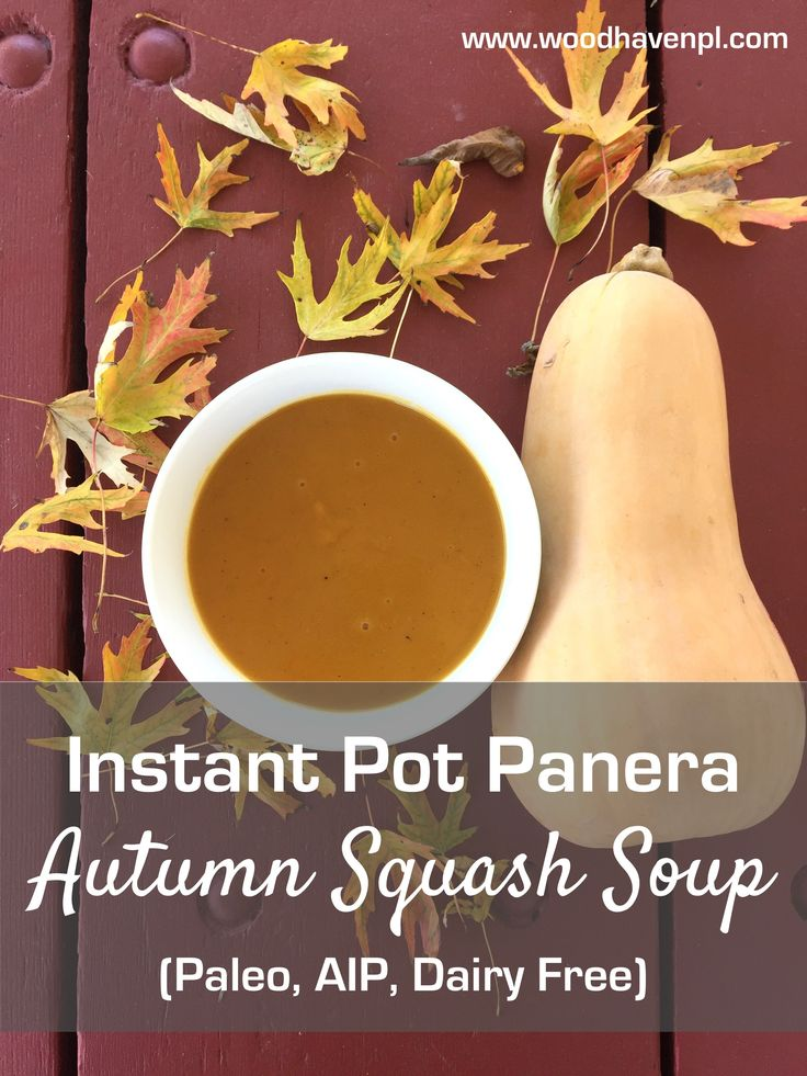 Instant Pot Panera Copycat Autumn Squash Soup (Paleo, AIP, Dairy Free) - Powered by @ultimaterecipe