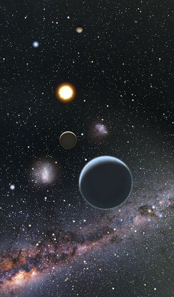Robotically discovering Earth's nearest neighbors A team of astronomers using ground-based telescopes in Hawaii, California, and Arizona recently discovered a planetary system orbiting a nearby star that is only 54 light-years away. All three planets orbit their star at a distance closer than Mercury orbits the sun, completing their orbits in just 5, 15, and 24 days.