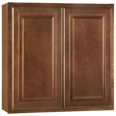 30x30x12 in hampton wall cabinet in cognac home the o for Hampton bay cabinet accessories