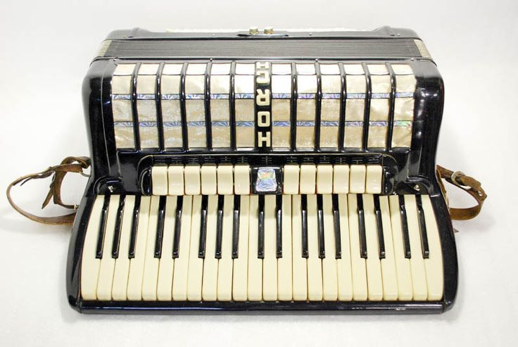 Accordion Horch Piano Accordion 120 Bass Button German Acordeon Vintage Musical Instrument Accordeon Accordian with Case Weltmeister