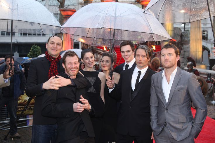 Clash of the Titans World Premiere - The Cast - HeyUGuys  Mads doesn't look too happy! He should be! He did an AMAZING job in the movie!
