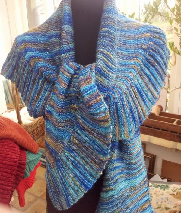 Knitting Instructions M1 : Image of brandesjalet strikkeopskrift the brande shawl