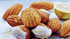 Madeleinekager med mandelmel og citron