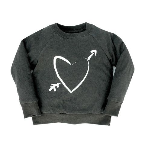Heart Print Raglan - mini mioche - organic infant clothing and kids clothes - made in Canada