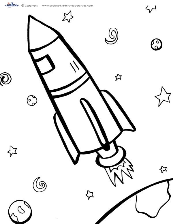 Printable Space Coloring Page 2 - Coolest Free Printables