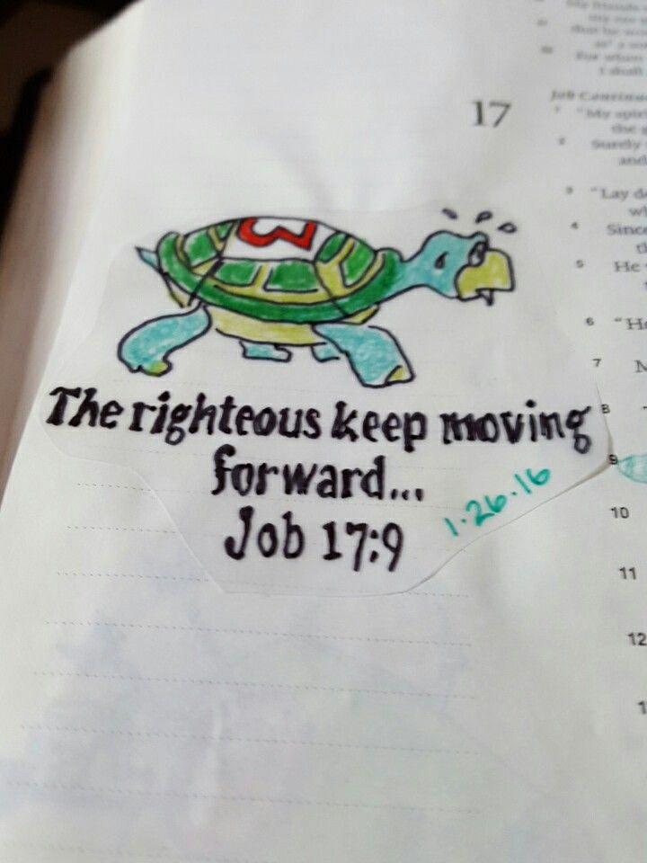 Bible journaling job 17