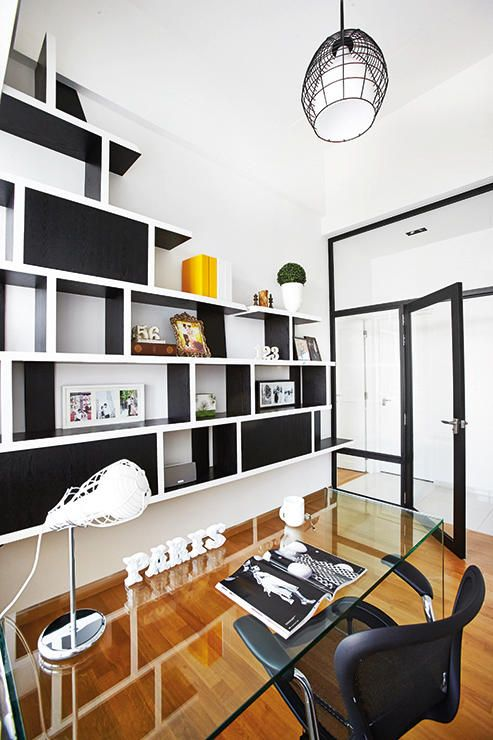 Contemporary Design Ideas Living Room Navy Blue Couch In Idea: Go For Customised Built-in Display Shelving ...