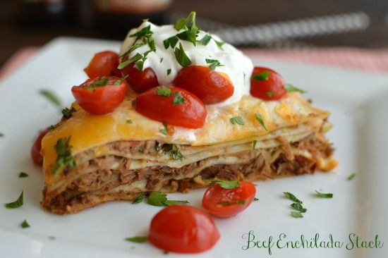 Beef Enchilada Stack! Even better the second day!