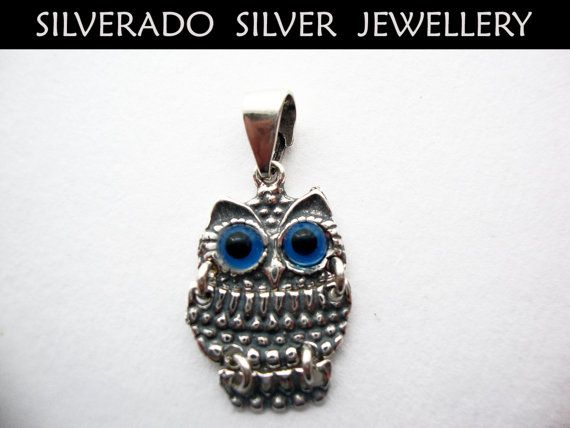 Sterling Silver 925 Greek Owl Pendant by SilveradoJewellery, €14.00