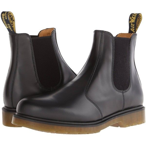 Amazon.com | Dr. Martens 2976 Chelsea Boot, Black Smooth | Chelsea ❤ liked on Polyvore featuring mens chelsea boots, mens black shoes, mens black chelsea boots, dr martens mens boots and mens boots