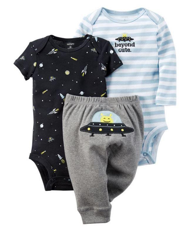 Boy's/Girl's 3 PCS Long & Short Sleeve Romper + Pants Clothing Set - 20 Styles