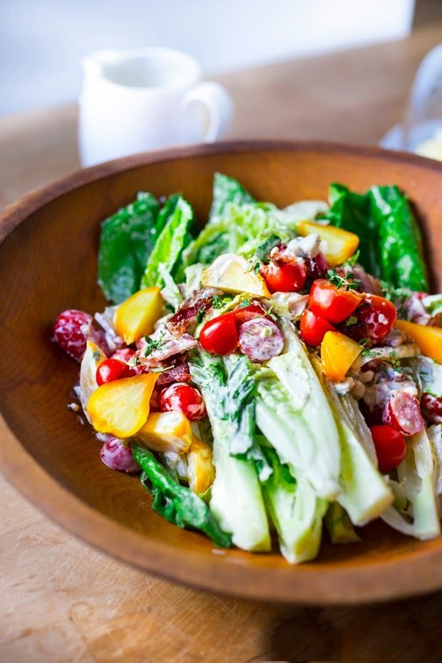 Lunch inspo: creamy romaine wedge salad