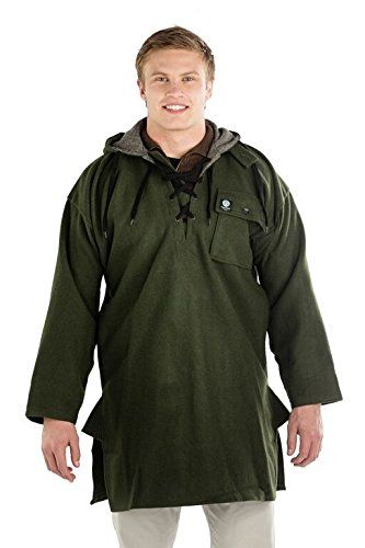 SWANNDRI MEN'S ORIGINAL WOOL BUSHSHIRT WITH LACE-UP FRONT (2XL)
