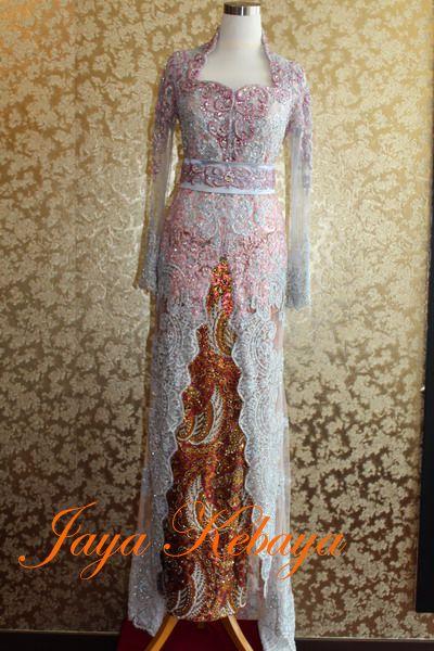 Wedding kebaya modern dress 2016-peach silver