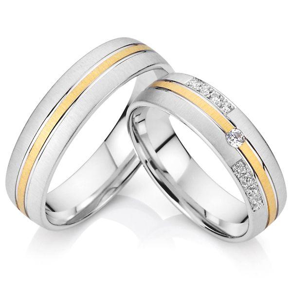 Classic custom handgemaakte westerse titanium hem en haar wedding band engagement koppels belofte ringen sets voor mannen en vrouwen