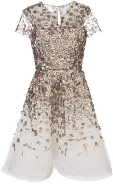 Oscar de Larenta Embellished Cocktail Dress