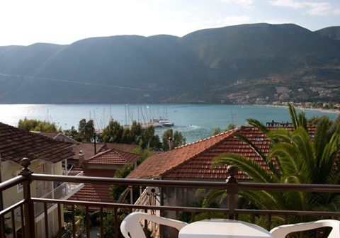 The attractive Vassiliki from the balcony of Captain's studios