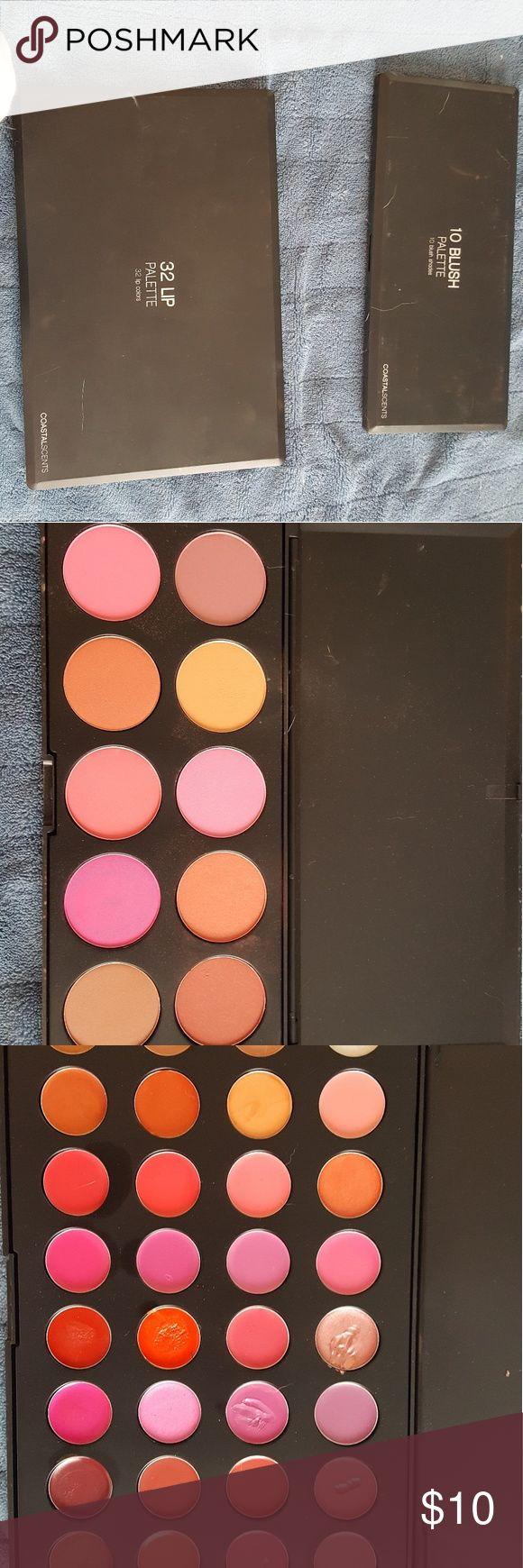 2 Coastal Scents palettes Coastal Scents lip palette and blush palette. Barely used. coastal scents Makeup