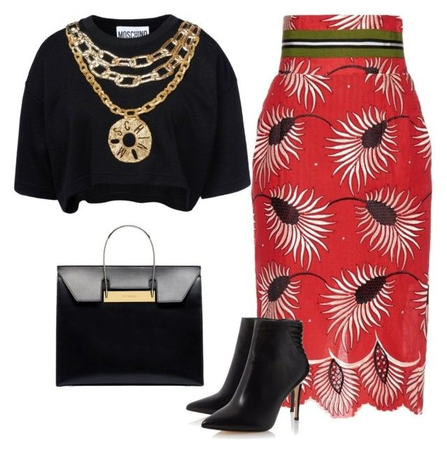 The devil inside by caterinami on Polyvore featuring moda, Moschino, Stella Jean and Balenciaga