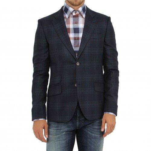 Circle of Gentlemen Sherlock Blazer. A dapper check jacket crafted from a traditional natural wool blend to ensure a comfortable yet sophisticated fit with a contrasting under-sleeve for a contemporary touch. Details include a notched lapel, welt chesT...