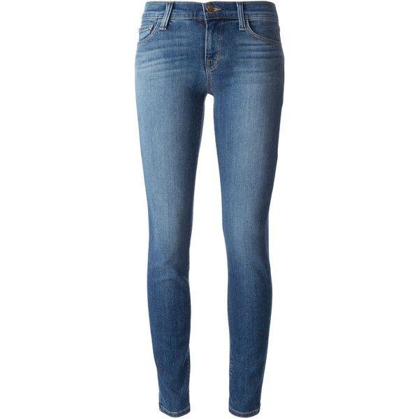 J Brand Skinny Jeans ($145) ❤ liked on Polyvore featuring jeans, pants, bottoms, denim, blue, j-brand skinny jeans, j brand, blue jeans, skinny leg jeans and skinny jeans