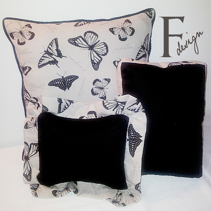 Beautiful Butterfly Scatter Cushions. These would look great on my black leather lounge