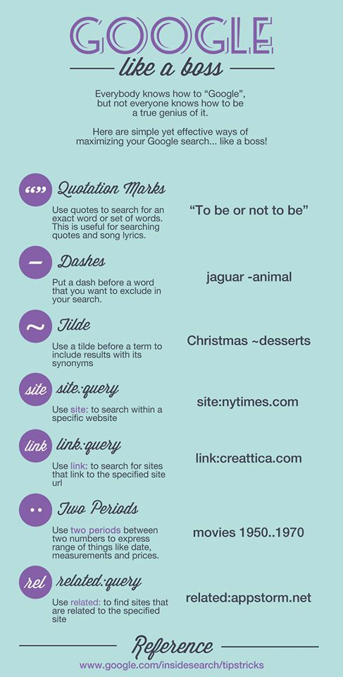 Take a look at these handy Google search tips.