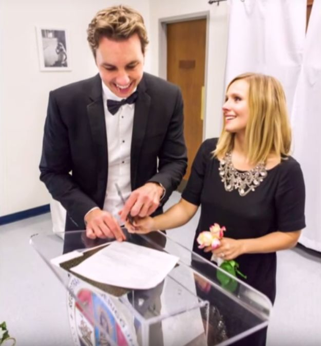 Bell, in a segment for CBS Sunday Morning, shared photos from their wedding and talked tearfully about Shepard and their life together. | Kristen Bell And Dax Shepard's Wedding Photos Will Make You Die A Little