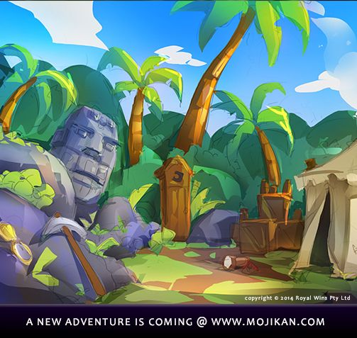 "a sneak peek @ a new environment concept!  Hit ""REPIN"" if you are ready for the next MojiKan Adventure  **To Pre-Register --> visit www.mojikan.com**"