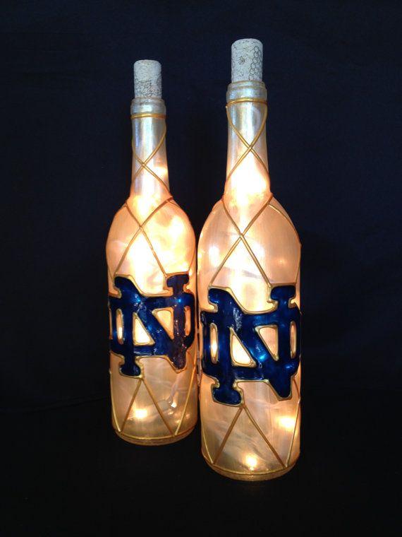 Notre Dame Wine Bottle Lamp by BottleOfLights on Etsy, $30.00
