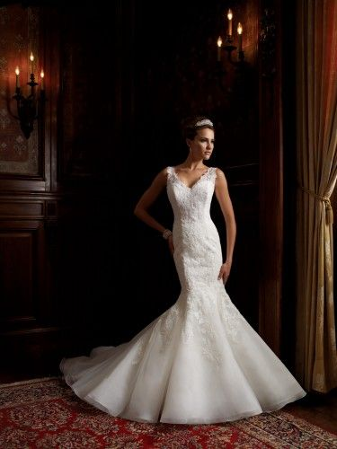 113201: Wedding Dressses, Weddingdress, Wedding Dresses, Lace Applied, Weddings, Davidtutera, David Tutera, Mon Cheri, Mermaid