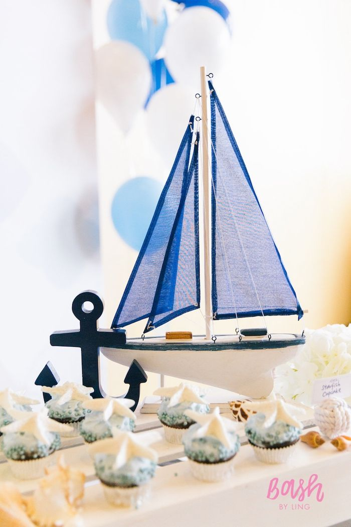 441 best nautical party ideas images on pinterest for Anchor decoration party