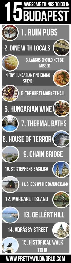 Read this article further more to know what are the best things to do in Budapest! Planning to go on a holiday to Budapest soon? Here's a list of 15 awesome things to do in Budapest you should NOT miss! Check it out or pin it to read later!