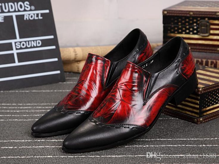 New 2017 Fashion Genuine Leather Shoes For Italian Men Black Red Dress Shoes Bridegroom Wedding Shoes Comfort Shoes Mens Boat Shoes From Zihan_1688, $86.44| Dhgate.Com