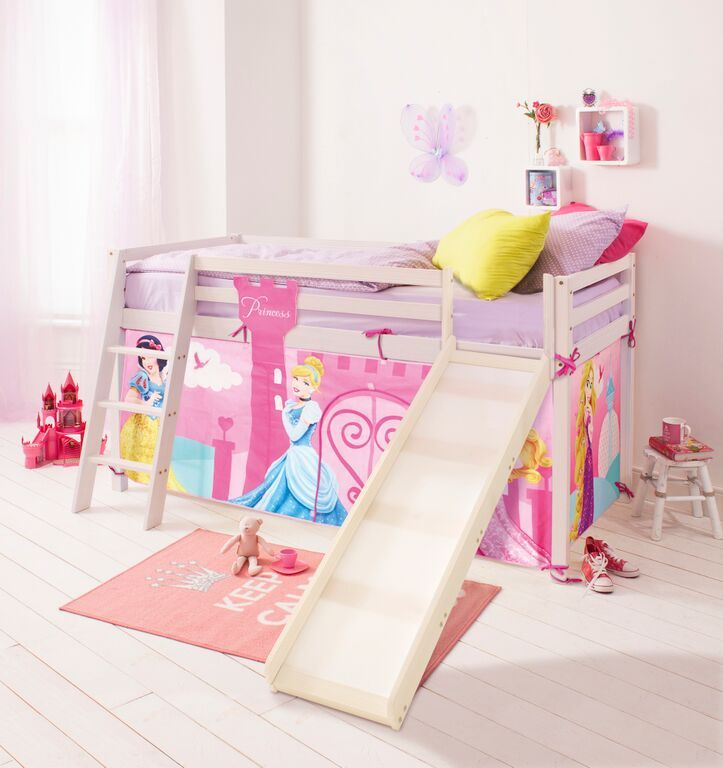 disney princess cabin bed with slide and tent in design noa and