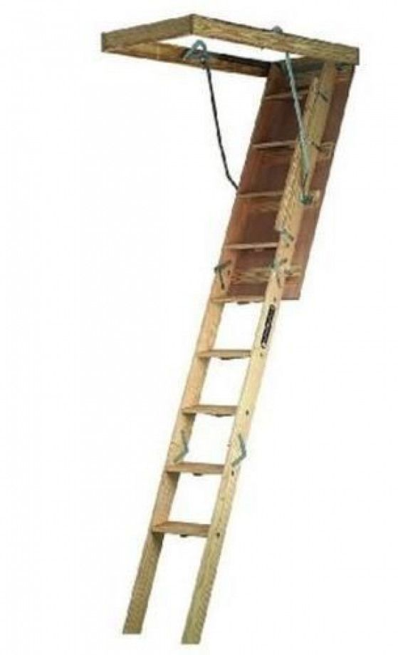 Louisville Ladder Cs224p Folding Wide Attic Ladder 22 5 X 54 Shedplans Attic Renovation Attic Ladder Attic Bedrooms
