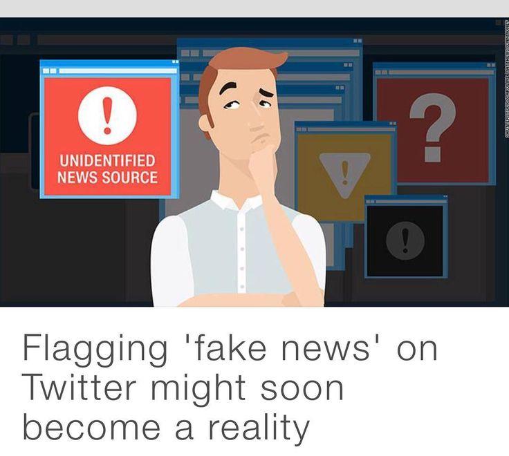 Via #CNN Todos contra as Fake News! Depois de #Google e #facebook anunciarem iniciativas de combate às fake News agora pode estar próximo a implantação no #Twitter de ferramenta para denúncia. #fakenews
