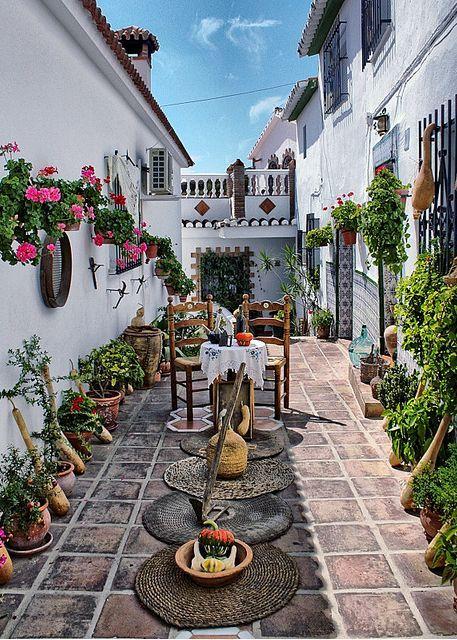 Courtyard In Málaga, Andalucía, Spain.