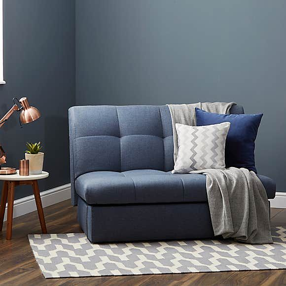 Navy Rowan Small Double Sofa Bed Single Sofa Small Room Sofa Single Sofa Bed