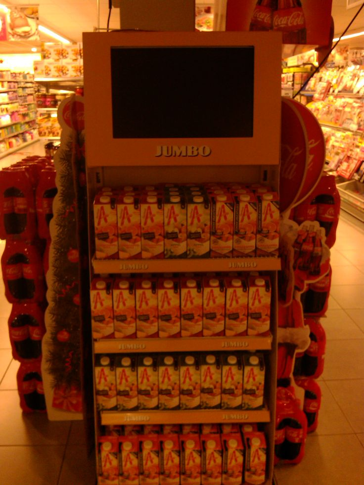 Het sterke aan deze product presentatie is ,dat er een tv scherm  wordt gebruikt