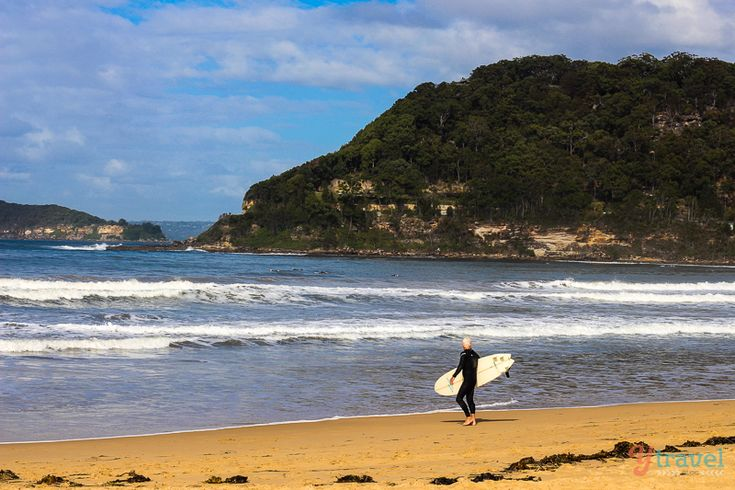 Surfs up at Umina Beach Australia