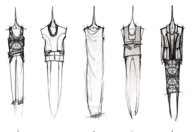 Fashion Sketchbook - fashion design sketches; dress drawings; womenswear collection development; fashion portfolio