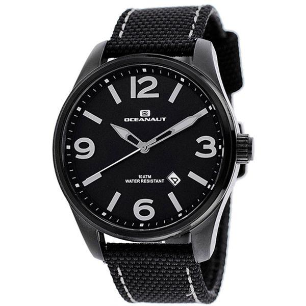 Men's Black Dial Black Canvas - Oceanaut Watch