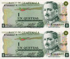 1 Quetzal Guatemala's Banknote